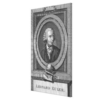 Portrait of Leonard Euler Canvas Print