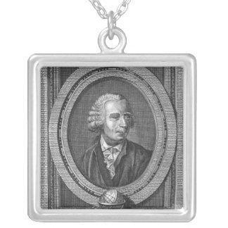 Portrait of Leonard Euler Silver Plated Necklace