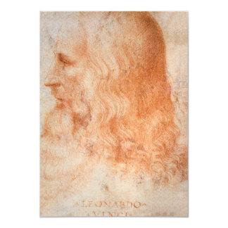 Portrait of Leonardo da Vinci Card