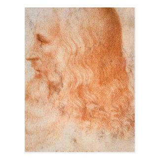 Portrait of Leonardo da Vinci Postcard