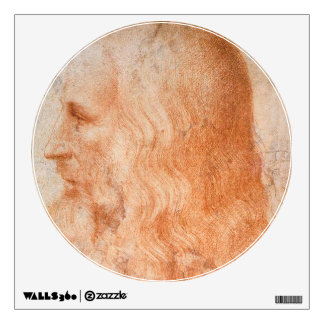 Portrait of Leonardo da Vinci Wall Sticker