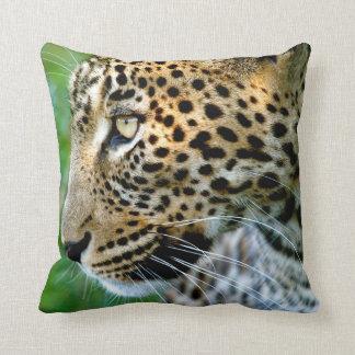 Portrait Of Leopard (Panthera Pardus) Throw Pillow