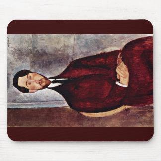 Portrait Of Leopold Zborowski By Modigliani Amedeo Mousepads