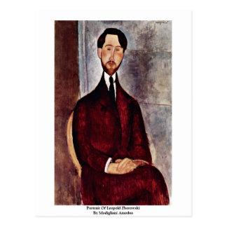 Portrait Of Leopold Zborowski By Modigliani Amedeo Postcard