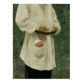 Portrait of Lev Tolstoy  1901 Postcard