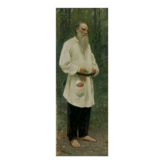 Portrait of Lev Tolstoy  1901 Poster
