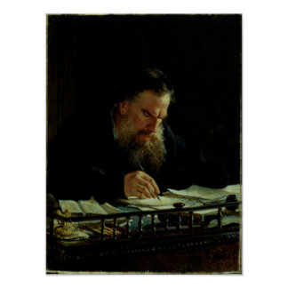 Portrait of Lev Tolstoy Posters