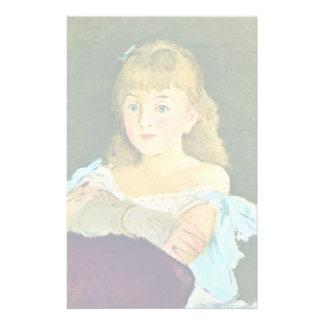 Portrait Of Lina Câmpineanu By Manet Edouard Stationery Paper