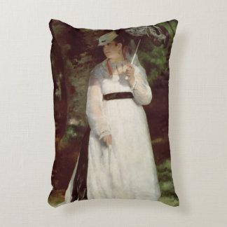 Portrait of Lise, 1867 Accent Pillow