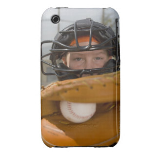 Portrait of little league catcher Case-Mate iPhone 3 case