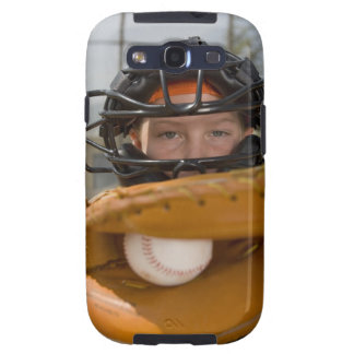 Portrait of little league catcher samsung galaxy SIII cover
