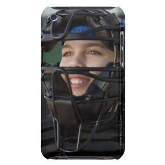 Portrait of little league catcher in mask barely there iPod cover