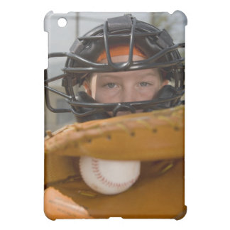 Portrait of little league catcher iPad mini covers