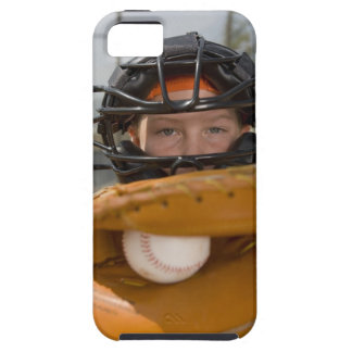 Portrait of little league catcher iPhone 5 covers