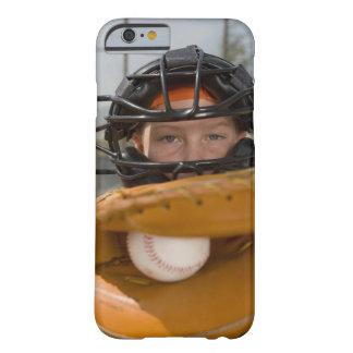 Portrait of little league catcher iPhone 6 case