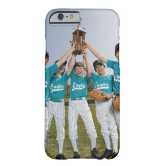 Portrait of little league players with trophy iPhone 6 case