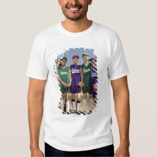 Portrait of little league teams shirt