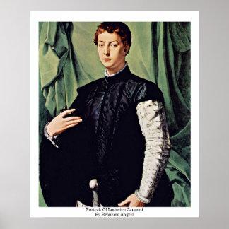Portrait Of Lodovico Capponi By Bronzino Angelo Poster