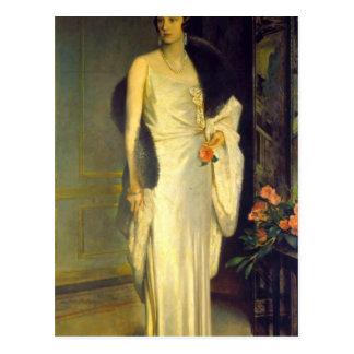 Portrait of Loelia, Duchess of Westminster Postcard