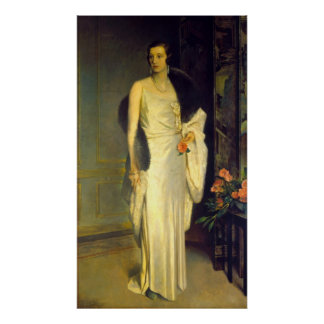 Portrait of Loelia, Duchess of Westminster Poster