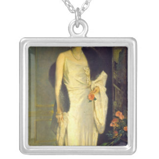 Portrait of Loelia, Duchess of Westminster Silver Plated Necklace