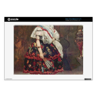 Portrait of Lola de Valence by Edouard Manet Decal For Acer Chromebook