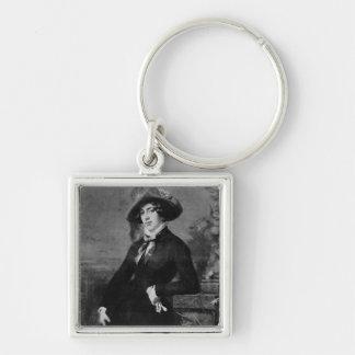Portrait of Lola Montez , 1844 Silver-Colored Square Keychain