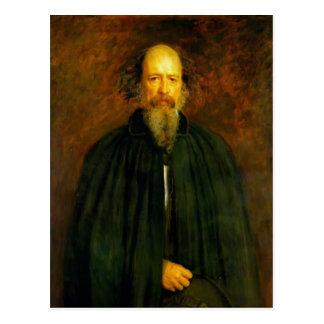 Portrait of Lord Alfred Tennyson by John Millais Postcard
