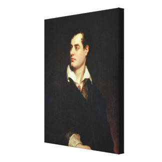 Portrait of Lord Byron (1788-1824) (oil on canvas) Canvas Print