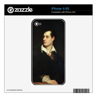 Portrait of Lord Byron (1788-1824) (oil on canvas) iPhone 4S Skin