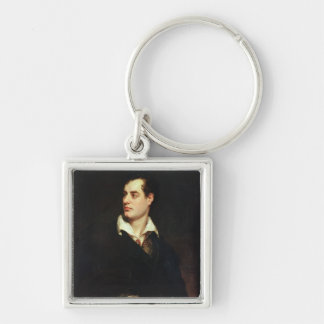 Portrait of Lord Byron (1788-1824) (oil on canvas) Keychain