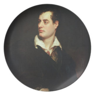 Portrait of Lord Byron (1788-1824) (oil on canvas) Melamine Plate