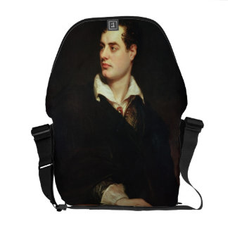 Portrait of Lord Byron (1788-1824) (oil on canvas) Messenger Bag