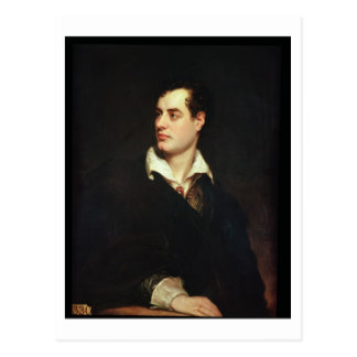 Portrait of Lord Byron (1788-1824) (oil on canvas) Postcard
