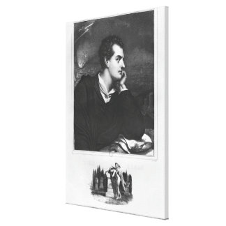 Portrait of Lord Byron Canvas Print