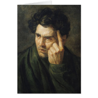 Portrait of Lord Byron Greeting Card