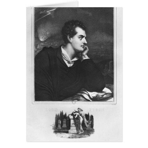 Portrait of Lord Byron Greeting Card