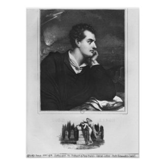 Portrait of Lord Byron Poster