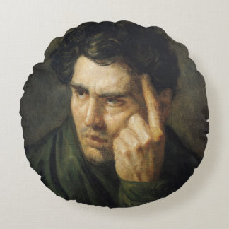 Portrait of Lord Byron Round Pillow