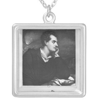 Portrait of Lord Byron Silver Plated Necklace