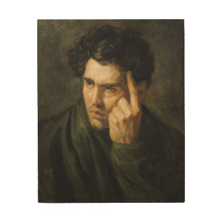 Portrait of Lord Byron Wood Print