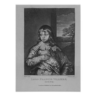 Portrait of Lord Francis Villiers Poster