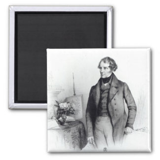 Portrait of Lord John Russell 2 Inch Square Magnet