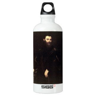 Portrait of Lorenzo Soranzo by Tintoretto Water Bottle