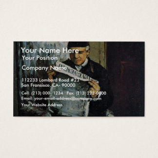 Portrait Of Louis-Auguste Cézanne, The Father Of T Business Card