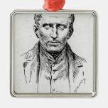 Portrait of Louis Braille Christmas Tree Ornament