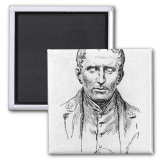 Portrait of Louis Braille Magnet