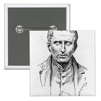Portrait of Louis Braille Pinback Button