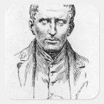 Portrait of Louis Braille Square Stickers