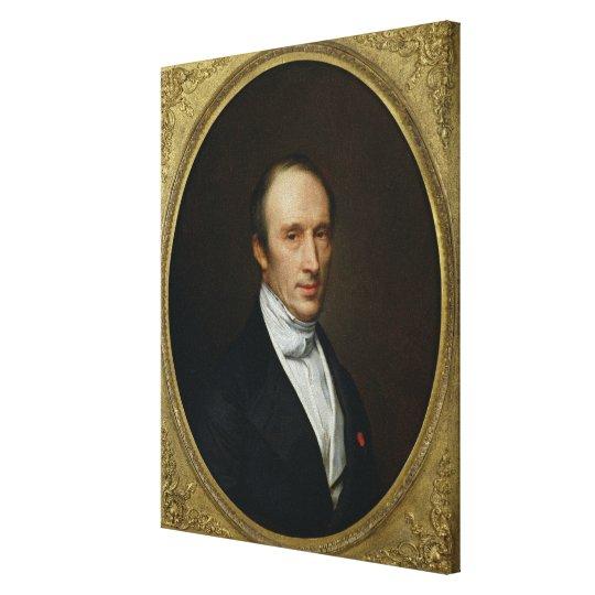 Portrait of Louis Cauchy Canvas Print